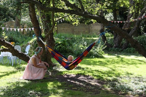 Secluded Glamping in Suffolk, bell tent Reedbed