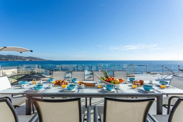 Stunning seaside home w/ private pool, hot tub, sunrise views & beach access!