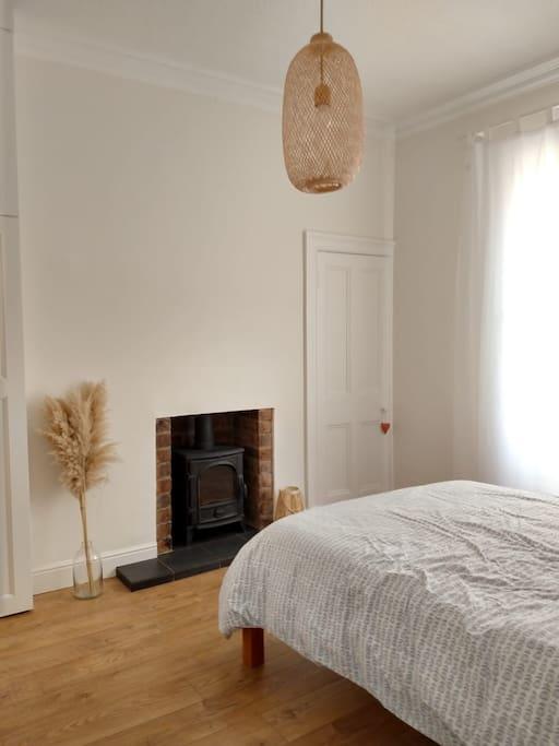 Bedroom wood stove