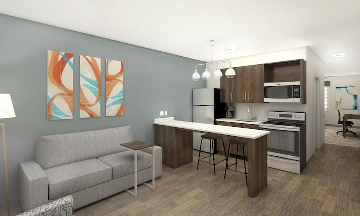 Brand New 1 Bedroom with King Bed weekly rate