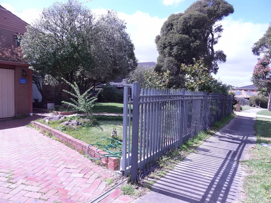 Front security fence of the garden