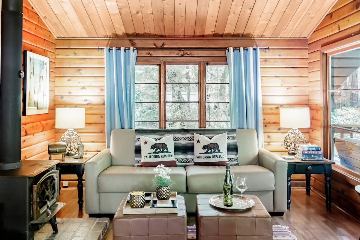 Romantic Creekside Cabin Nestled in a Redwood Forest