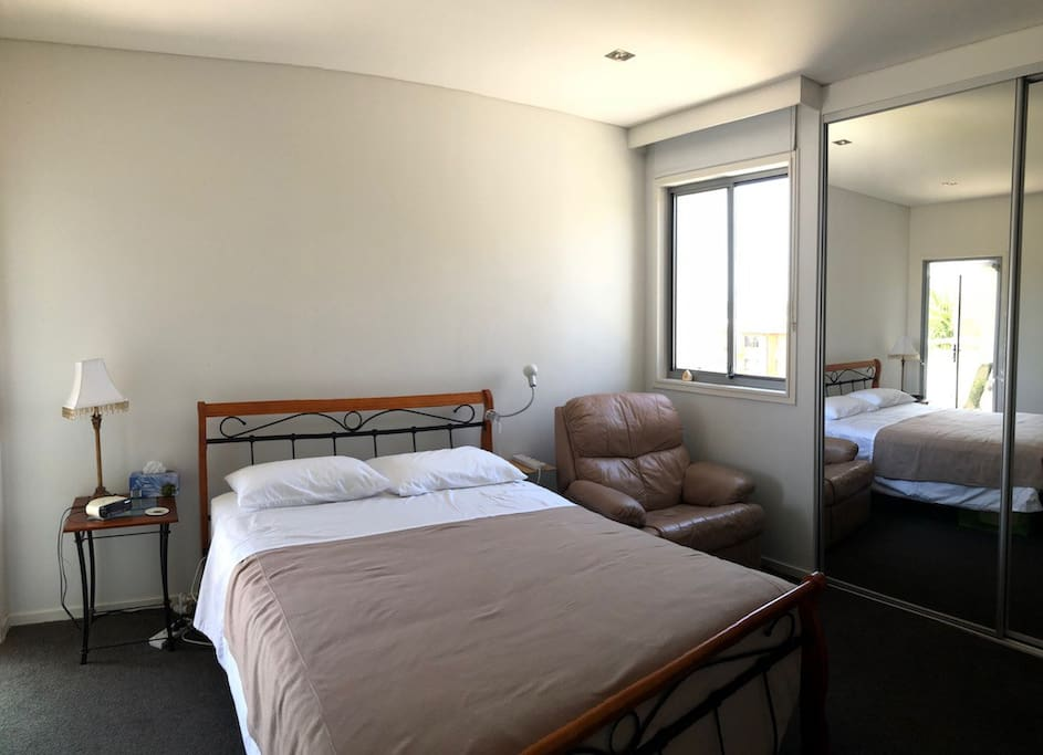 Guest Room has a window and an attached balcony (nice airflow)