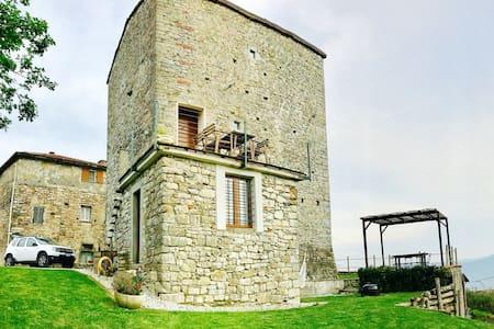 Tuscany medieval hometower - Villa di Sopra - ปราสาท
