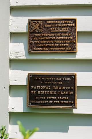 The Inn is on the National Registry of Historic places , under protective covenants with Preservation North Carolina and an Orange County Landmark