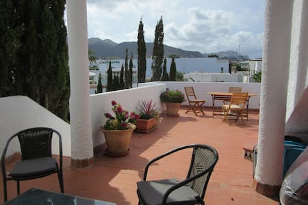 Mojacar Beach apartment, sea and Mountain views.