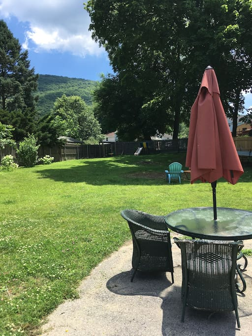 Our quarter acre property with views of Mt. Beacon