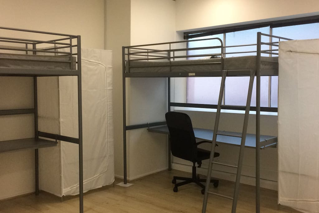 You will not be disrupted by others. Each guest will have personal set of bunk bed which is a single bed on the top and the desk on the bottom.