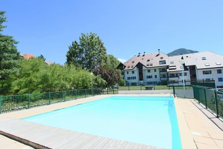 Appartement entier avec jardin et piscine