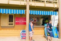 Surf/snorkle/ beach gear/lessons shop at Kalapaki beach