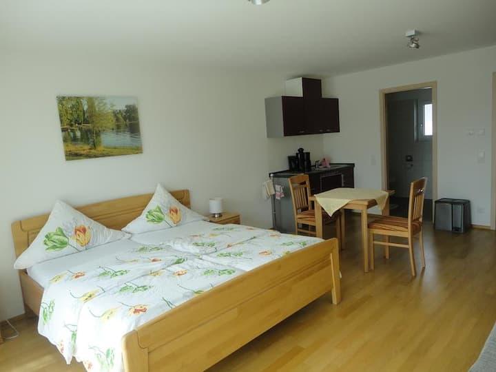 Pension Zum Talhof, (Reichenau), Doppelzimmer im Erdgeschoss, 30qm, mit Kochnische, Dusche und WC