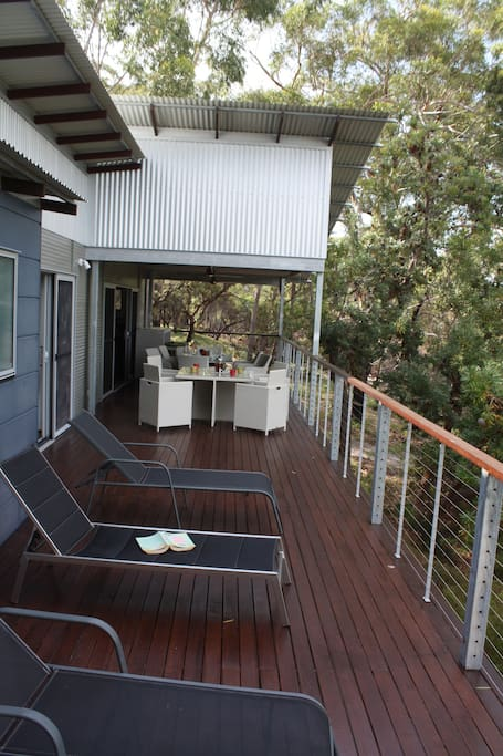 Huge deck to enjoy the surrounds and the view to the Great Sandy Strait.