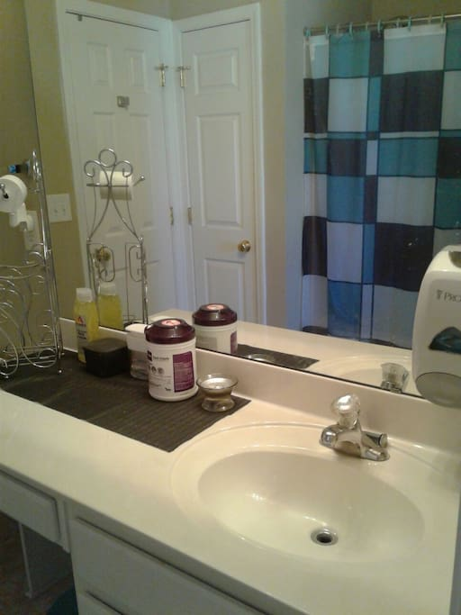 Clean bath room regularly sanitized