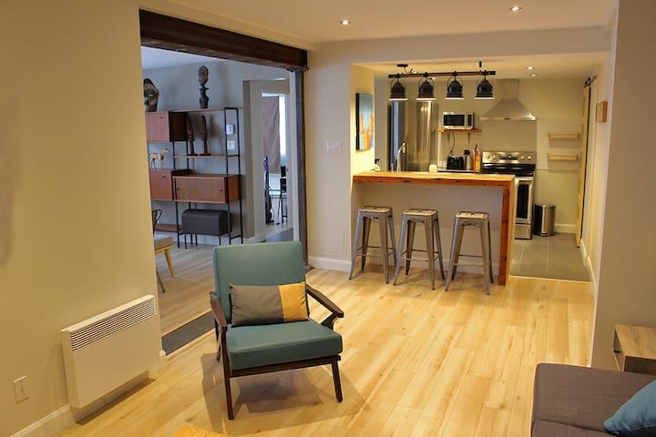 Spacieux appartement équipé face au Vieux-Québec