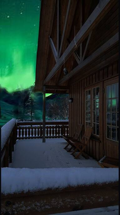 Northern Lights show at their best at Lundur where the city lights are not interrupting - from fall until spring, incredible experience.