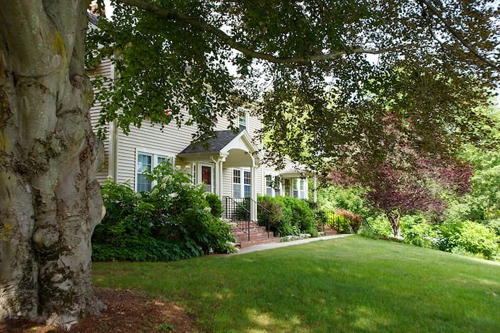 New England Colonial Estate.  Great location and ideal for family & friend get-togethers, intimate weddings, special events & wellness retreats.