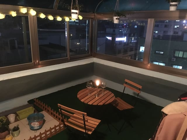 Daejeon Sky View Apt + Garden Room  대전 - Daejeon - Appartement