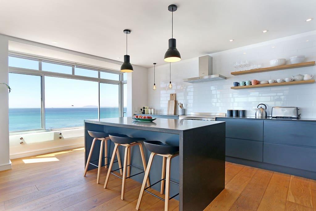 Stunning large kitchen with Nespresso coffee machine