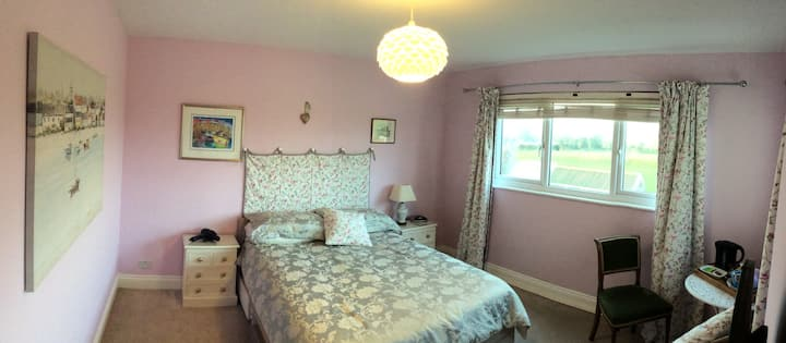 Rural St Helier, double bedroom and bathroom