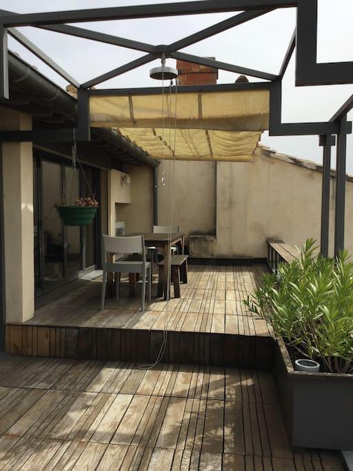 appartement terasse sur les toits appartements louer. Black Bedroom Furniture Sets. Home Design Ideas