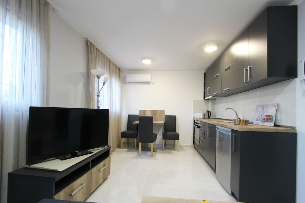 Living Room, Kitchen, Dining Area