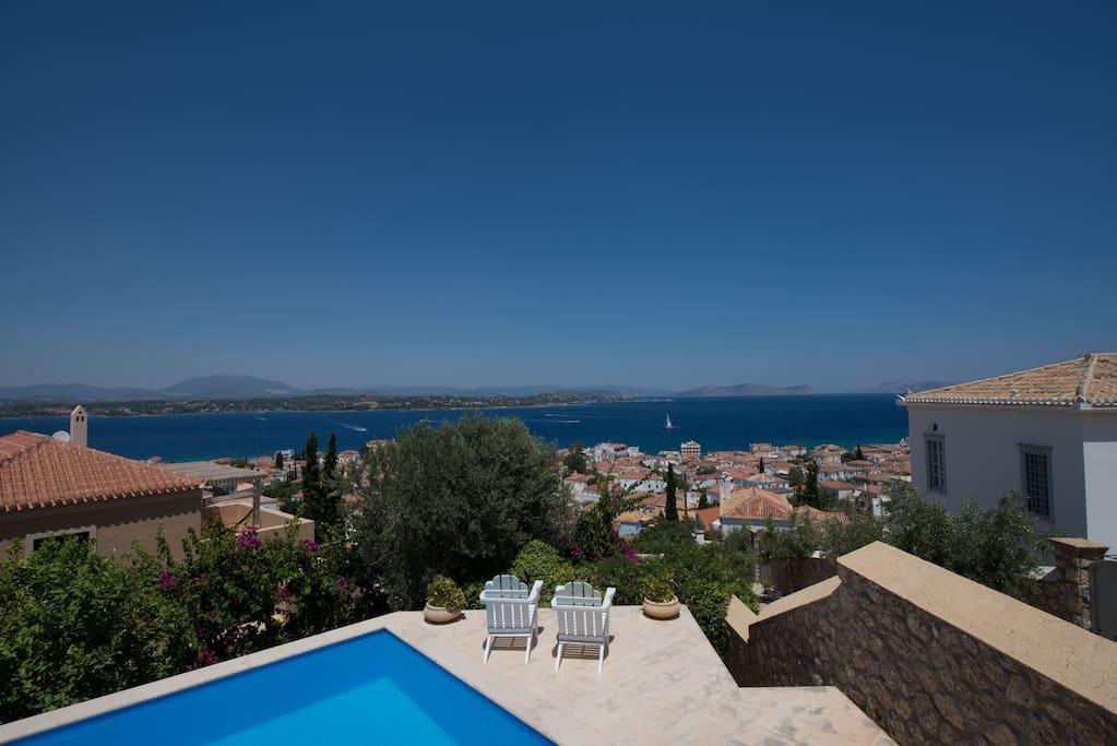View on the Saronic gulf