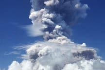 PHOTO TAKEN AT OUR VIEW DECK (01/22/18) MT. MAYON ERUPTION AT 12 NOON