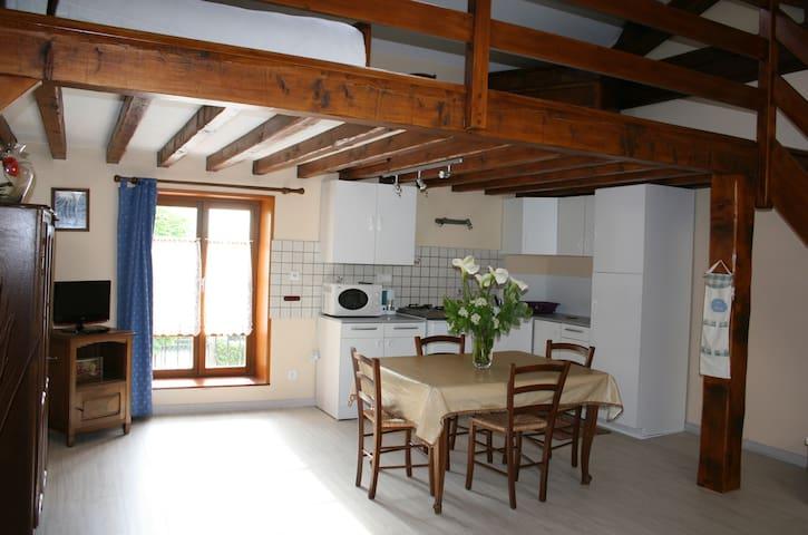 Duplex meublé au calme avec parking - Lucenay - Apartment