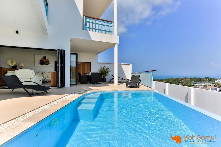 Villa Bato 3BR+Private Pool-Sea and Phangan View