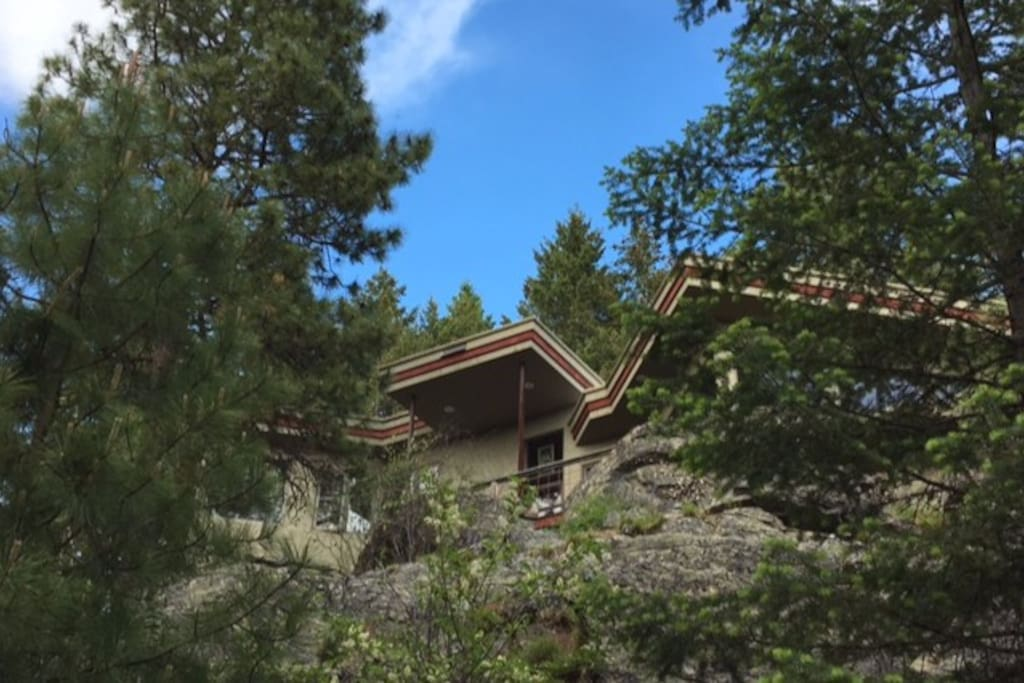 One-of-a-kind home, perched atop a rocky cliff