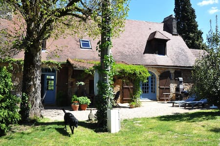 Old farm with heated pool at St Laurent la Vallee - Saint-Laurent-la-Vallée - Huis