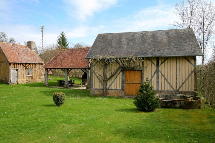 The Cider Press at Boudet, Barenton, Normandy a romantic studio for two.