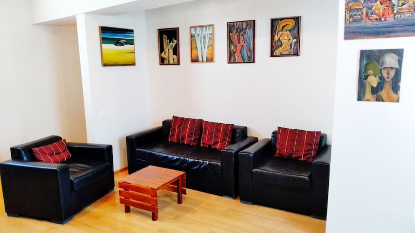 Guest room and art gallery