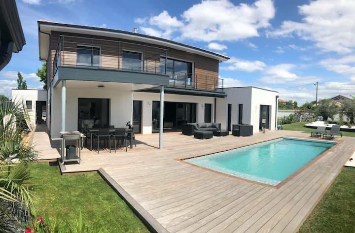 Seignosse Landes superbe villa piscine chauffée !