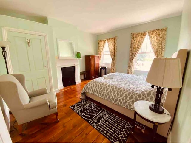 Master bedroom overlooking Front Street and the Susquehanna River.