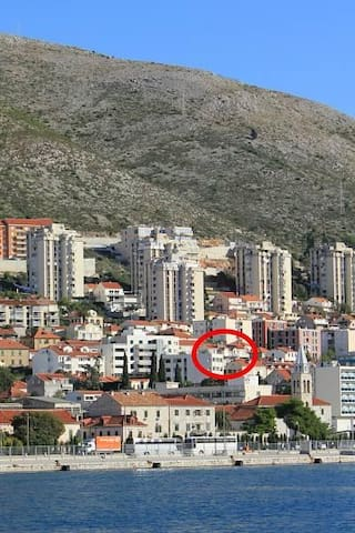 One bedroom apartment with balcony and sea view Dubrovnik (A-8580-a) - Dubrovnik - Apartment