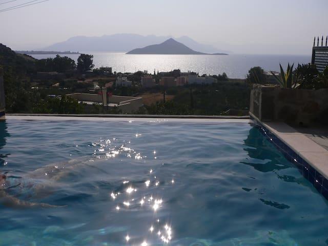 Pool med  hänförande havsutsikt - Nisi - Huis