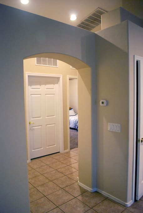 Entrance to Twin Beds