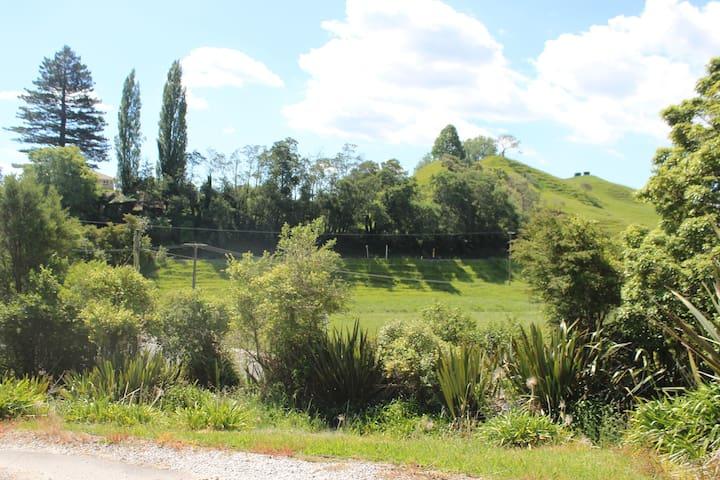 Deck view up Waitomo Valley Road