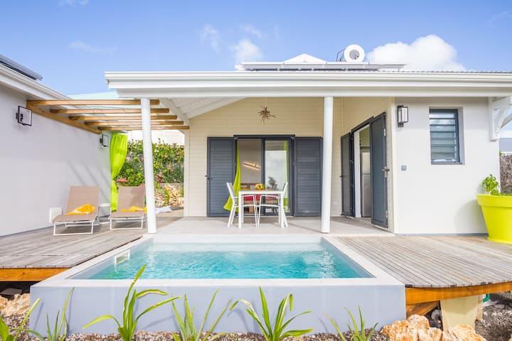 villa Mangrove 2 pers vue mer, piscine, jardin