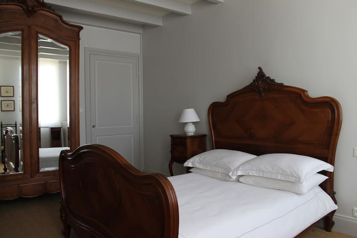 All rooms are decorated simply in a traditional French style.