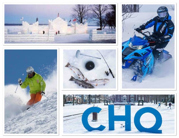 Book 2 nights, Get 3rd free Ski Chalet by a lake.