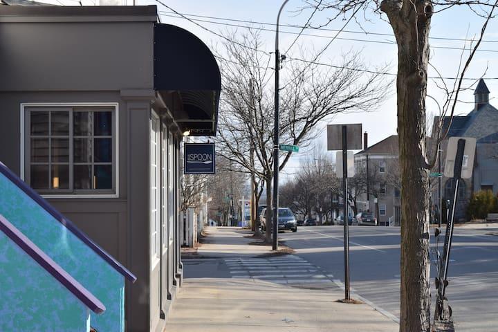 Phil's favorite neighborhood restaurant, steps away from front door.