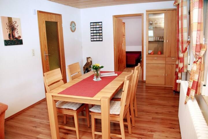 Wallemehof, (Wolfach), Ferienwohnung Blumenwiese, 45qm, 1 Schlafzimmer, max. 2 Personen