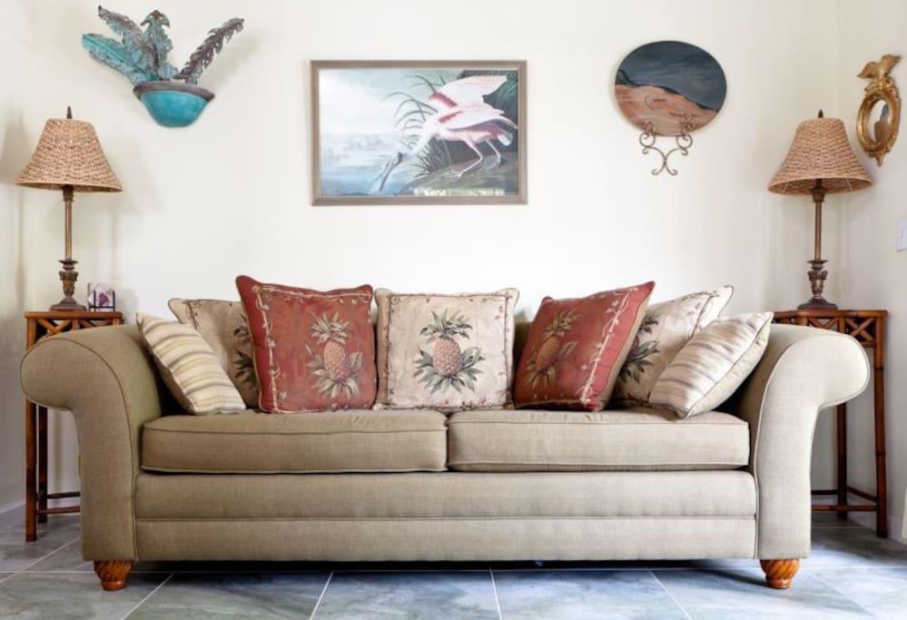Living Room at Tortuga Hammock vacation rental