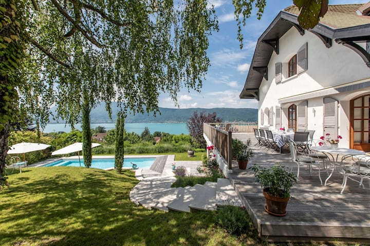 Fabulous family home heated pool - Lake d'Annecy