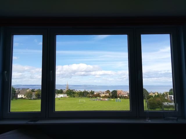 A room with sea & hill views in Edinburgh