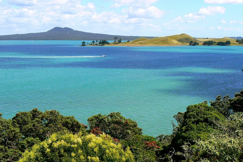 view of Rangitoto and Brown's Island