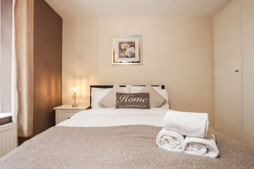 Bedroom 1 comes with fresh linen and towels