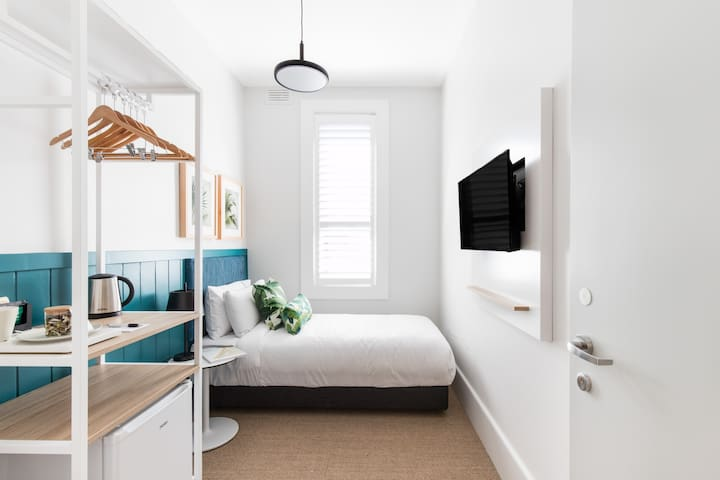 Wardrobes and hanging space made available in all single rooms.